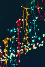 Bunte Lichtern in der Nacht